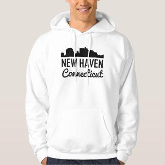 New Haven Connecticut Skyline Hoodie