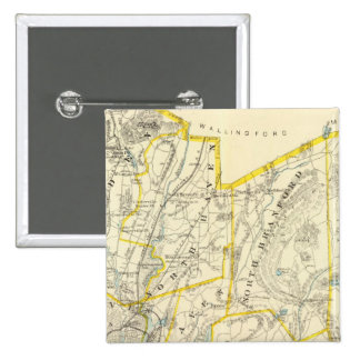 New Haven County 2 Inch Square Button