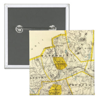 New Haven County Connecticut 2 Inch Square Button
