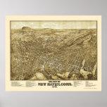 New Haven, CT Panoramic Map - 1879 Print
