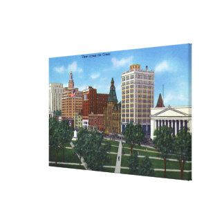 New Haven CTView from across the Green Gallery Wrapped Canvas