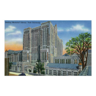 New Haven, CTYale U Sterling Memorial Library Poster