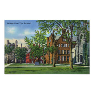 New Haven, CTYale University Campus View Poster