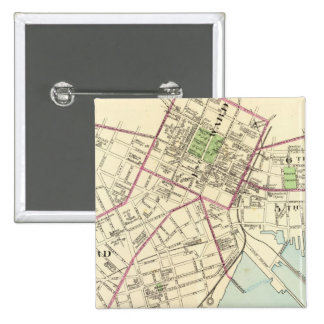 New Haven Map 2 Inch Square Button