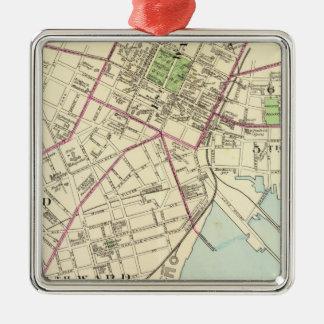 New Haven Map Metal Ornament