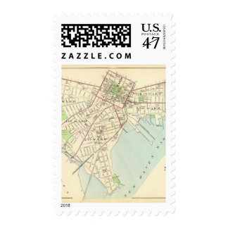 New Haven Map Postage Stamp