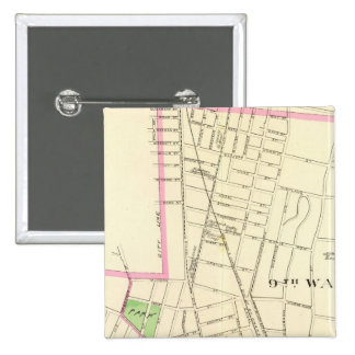 New Haven N 2 Inch Square Button