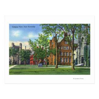 New Haven, opinión del campus universitario de Tarjeta Postal