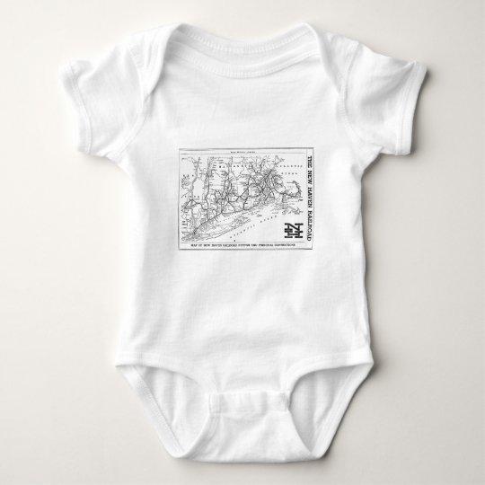 New Haven Railroad 1956 Map Baby Bodysuit