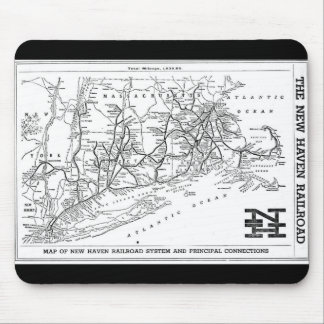 New Haven Railroad 1956 Map Mouse Pad