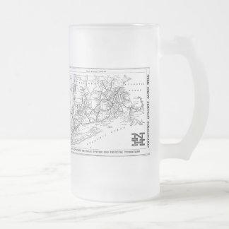 New Haven Railroad 1956 Map Coffee Mug