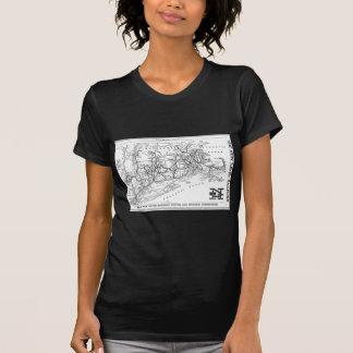 New Haven Railroad 1956 Map Tee Shirts