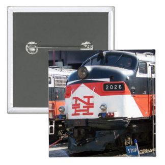 New Haven Railroad, C-DOT FL 9M 2026 2 Inch Square Button