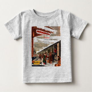 New Haven Railroad Christmas 1947 Baby Baby T-Shirt