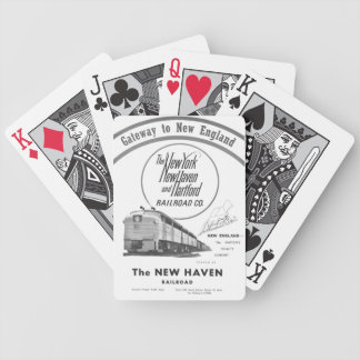 New Haven Railroad-Gateway to New England 1950 Bicycle Playing Cards