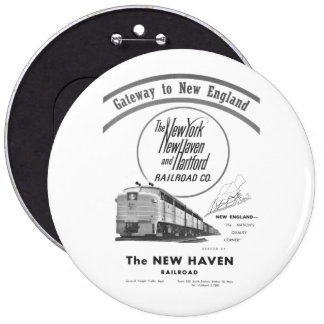 New Haven Railroad-Gateway to New England 1950 Button
