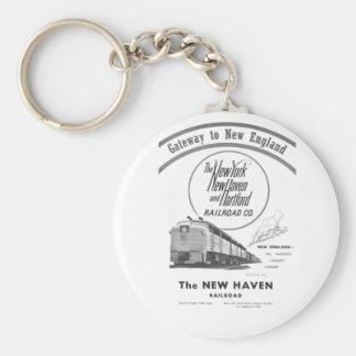 New Haven Railroad-Gateway to New England 1950 Keychain
