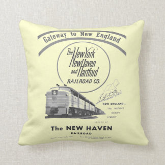 New Haven Railroad-Gateway to New England 1950 Throw Pillows