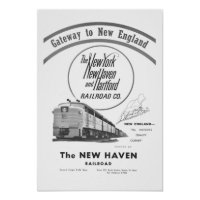 New Haven Railroad-Gateway To New England 1950 Poster
