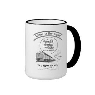 New Haven Railroad-Gateway to New England 1950 Ringer Mug