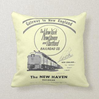 New Haven Railroad-Gateway to New England 1950 Throw Pillows