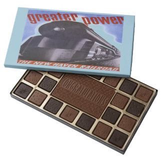 New Haven Railroad Greater Power 1938 45 Piece Box Of Chocolates