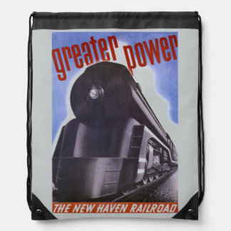 New Haven Railroad Greater Power 1938 Backpack