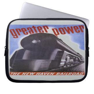 New Haven Railroad Greater Power 1938 Computer Sleeves
