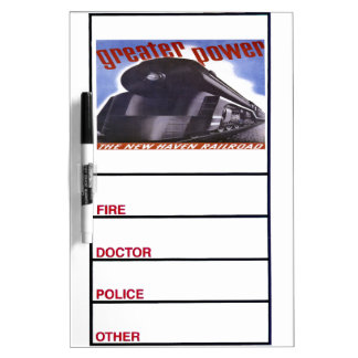 New Haven Railroad Greater Power 1938 Dry Erase Whiteboards