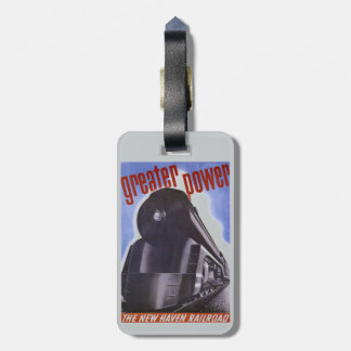 New Haven Railroad Greater Power 1938 Luggage Tag