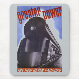New Haven Railroad Greater Power 1938 Mouse Pad