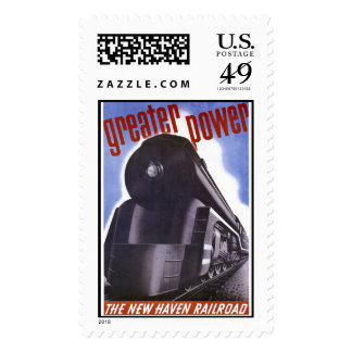 New Haven Railroad Greater Power 1938 Postage