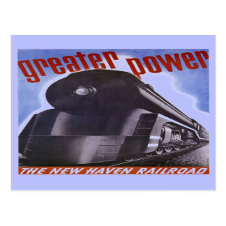New Haven Railroad Greater Power 1938 Postcard