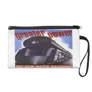 New Haven Railroad Greater Power 1938 Wristlet Bag