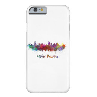 New Haven skyline in watercolor Barely There iPhone 6 Case