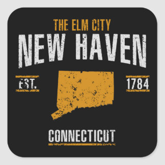 New Haven Square Sticker
