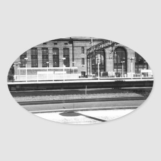 New Haven Union Station Oval Sticker