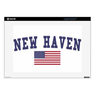 """New Haven US Flag 15"""" Laptop Skins"""