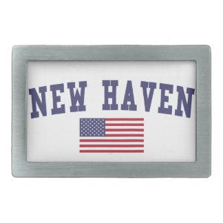 New Haven US Flag Belt Buckle