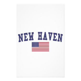 New Haven US Flag Stationery