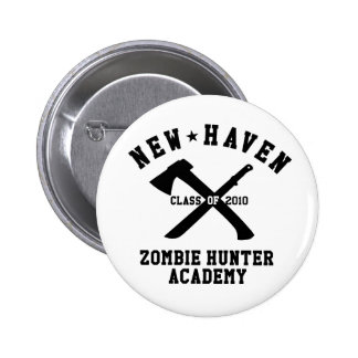 New Haven Zombie Hunter Academy Button