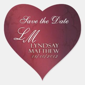 New heart stickers for Lyndsay & Matthew
