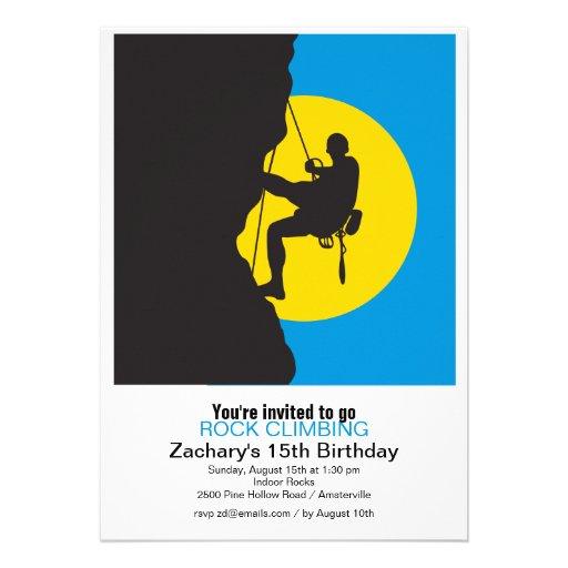 Personalized rock climbing invitations custominvitations4u new heights rock climbing party invitation filmwisefo