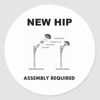 New Hip - Assembly Required Classic Round Sticker