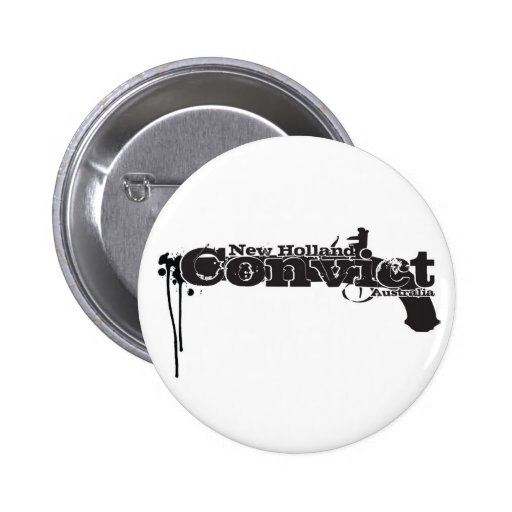 New Holland Convict Pinback Buttons