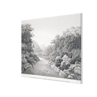 New Holland: View of the Waragamba River in the Bl Canvas Print