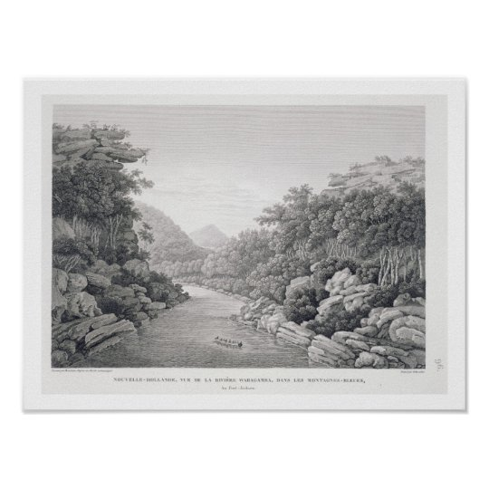 New Holland: View of the Waragamba River in the Bl Poster