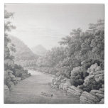 New Holland: View of the Waragamba River in the Bl Tile