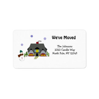 New Home Address Custom Address Labels