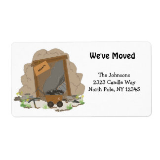 New Home Address Mining Cave Shipping Label
